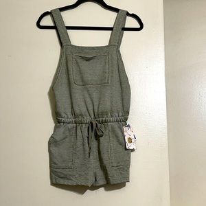 3/$25 Pink Rose overall shorts
